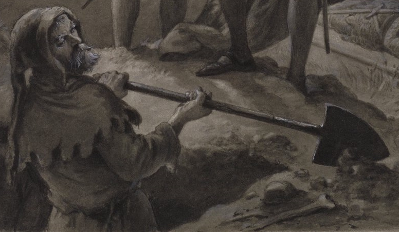 The Gravedigger by artist F. O. C. Darley, 1884.