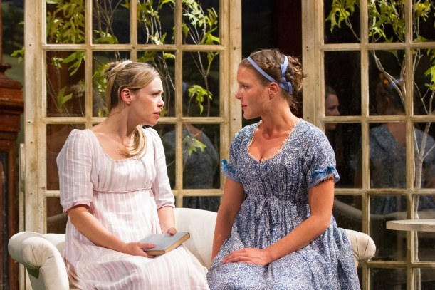 Erin Weaver as Elinor and Maggie McDowell as Marianne Dashwood.