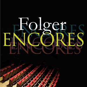 Folger ENCORES, red theater seats fading into darkness